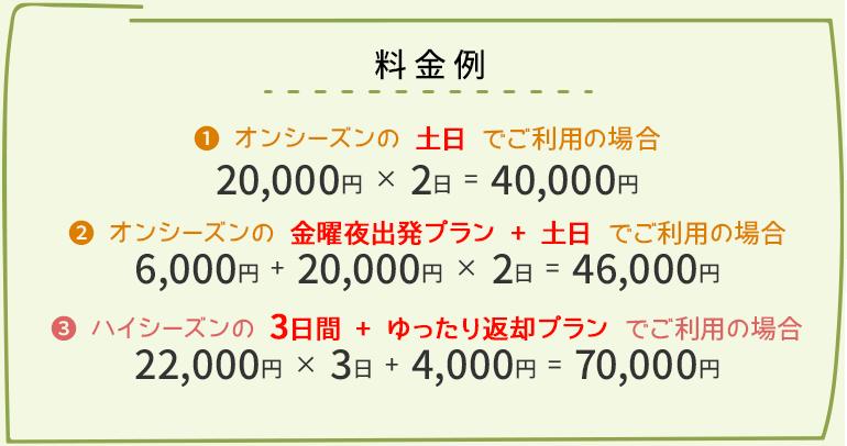 レンタル料金例
